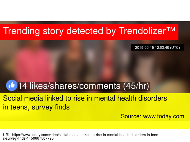 Mental Health Disorders And Teen >> Social Media Linked To Rise In Mental Health Disorders In Teens
