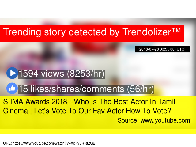SIIMA Awards 2018 - Who Is The Best Actor In Tamil Cinema